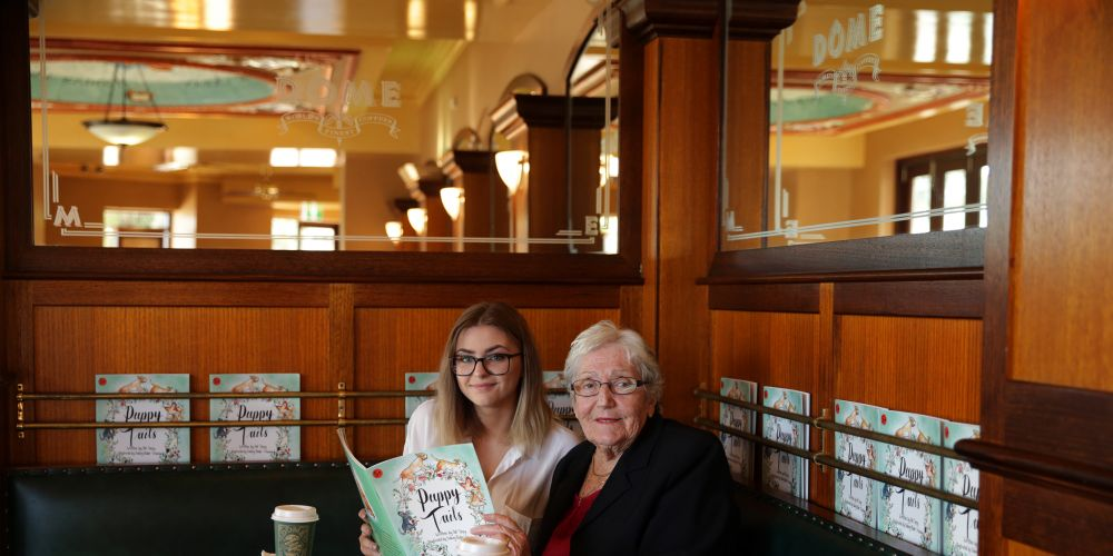 Irene McCormack Catholic College student Sidney Blake-Stanbury with Pat Torpy. Picture: Martin Kennealey d488250