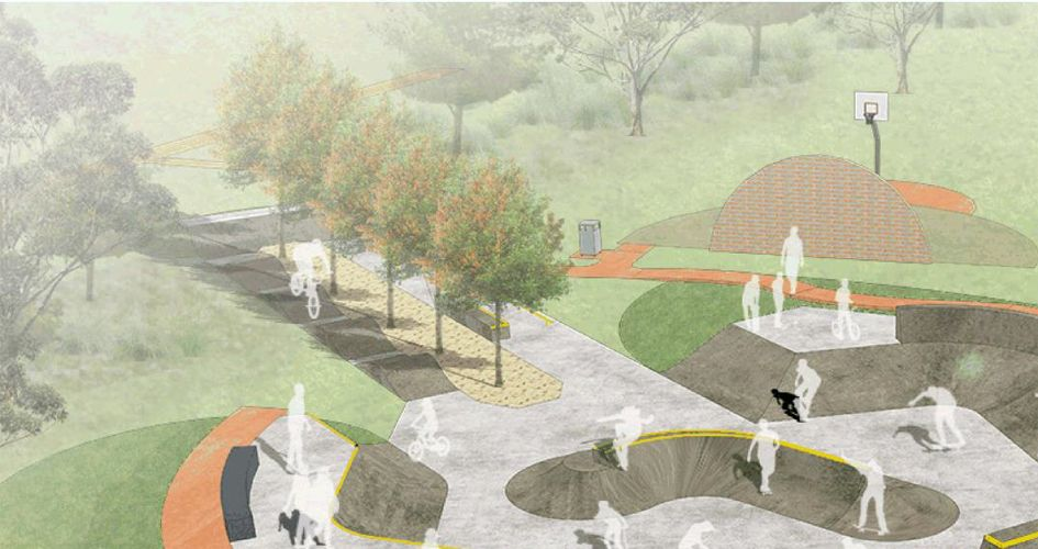 A concept plan for the Warradale skate park.