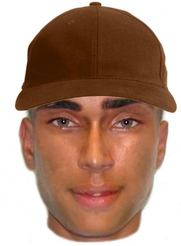 An identikit photo of the man police would like to speak to in regard to an assault in Dudley Park.