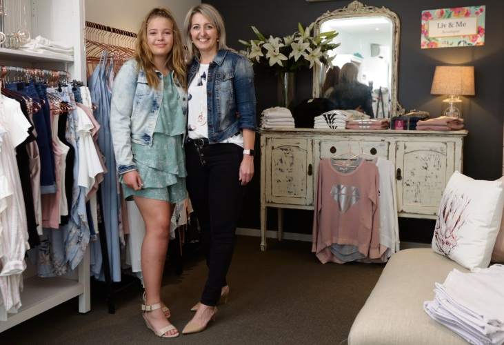 Clarkson mother Jane Bryer and her daughter Olivia opened a boutique called Liv & Me. Picture: Martin Kennealey.