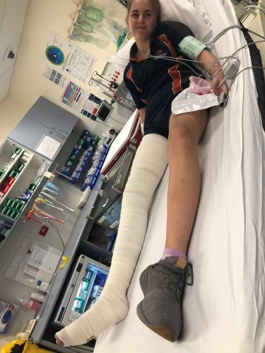 Meadow Springs Primary School Year 6 student Zoe da Silva spent the night at Peel Health Campus with a suspected snake bite.
