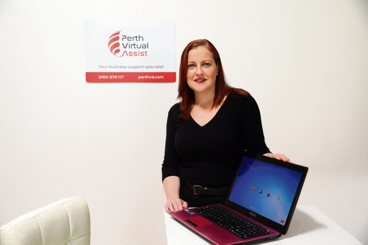 Amanda Acton (Hillarys) from Perth Virtual Assist. Picture: Martin Kennealey d486542