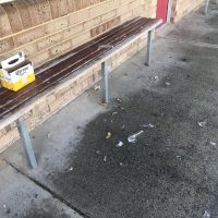 Smashed beer bottles outside the vandalised Ocean Reef Primary School. Picture: Cassidy Mosconi Twitter @CassidyMosconi