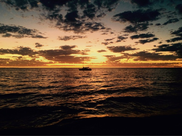 Jeff Gunningham took a beautiful picture of a sunset over South Beach.