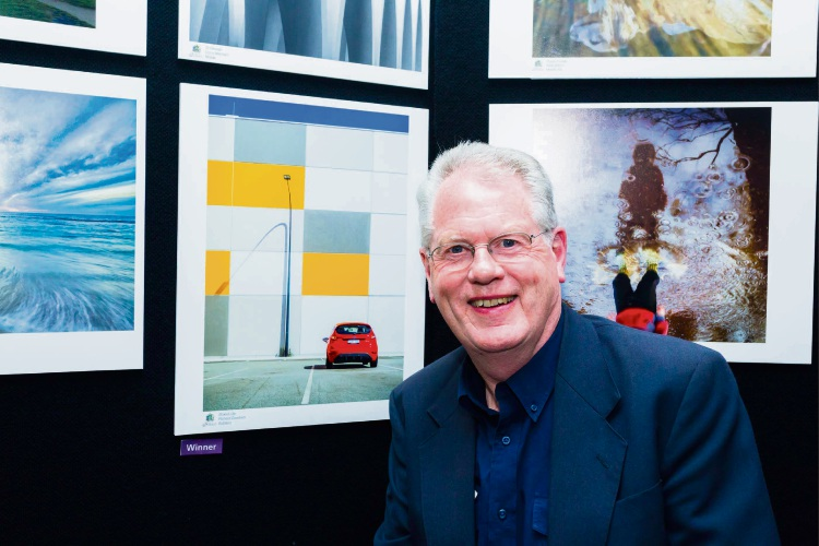 Winner of the Subiaco Category Richard Goodwin with his entry Boxed Life.