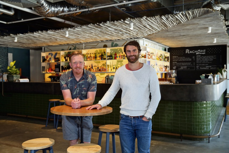 James Connolly (bar manager) and owner Adam Kapinkoff. Photo: Martin Kennealey