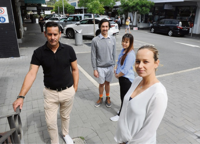 Cottesloe traders who have banded together to fight a spate of shoplifting include (l-r) Robert Mance, Kim Snowball, Jennifer Lee and Lisa Hopgood.  Picture: Jon Bassett.