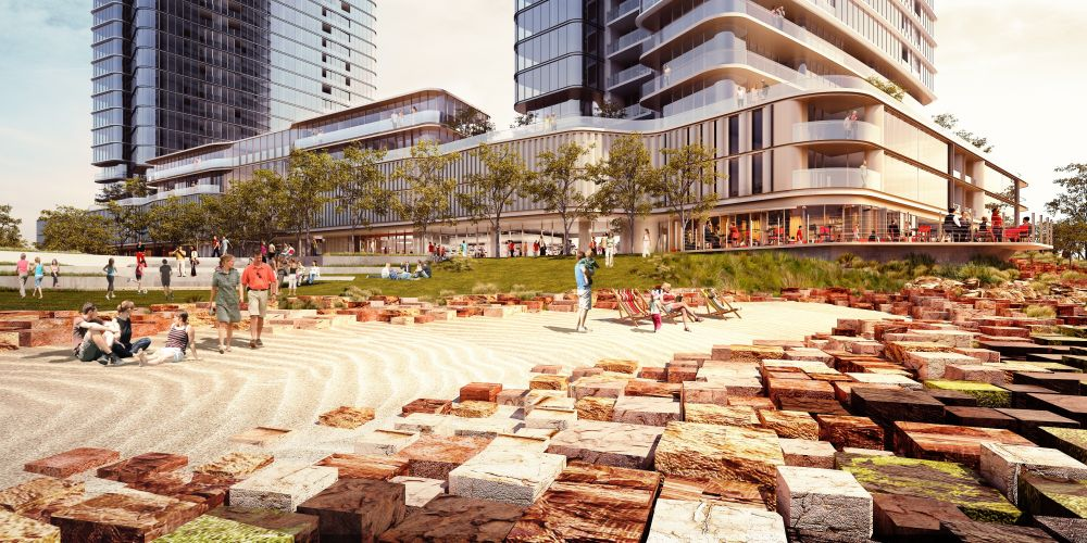 Site works, including a manmade beach, are underway as part of the first stage of Golden Group's redevelopment at Belmont Park.