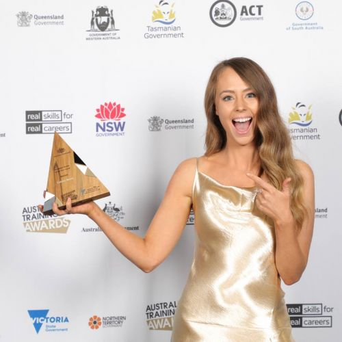 Caitlan Noble was awarded Australian Vocational Student of the Year. Picture: Supplied.