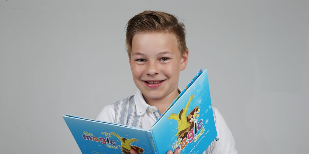 Aramis Surteess is a 11-year-old boy who was bullied severely and is now an anti-bullying ambassador for the Magic Coat program. Picture: Andrew Ritchie.