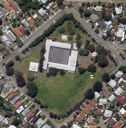 An aerial shot of Ashfield Primary School.