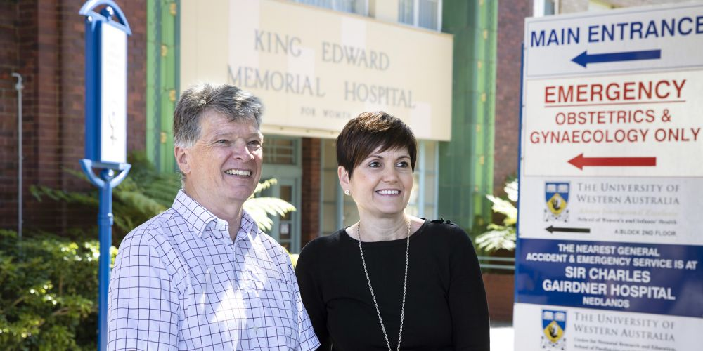 """Dr Andy Gill and Rishelle Hume AM will be two of the Perthonalities taking part in the Helping Little Hands """"jail and bail"""" event. Picture: Supplied."""