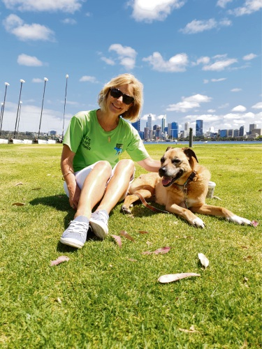 South Perth resident Lisa Lewis and her dog Roy.