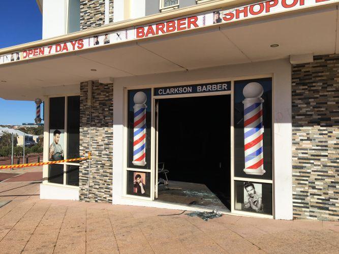 Clarkson Barber Shop. Photo: Lucy Jarvis.