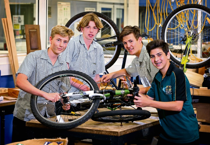 : L-R: Harrison Sutherland (16) of Merredin, Ike Sutherland (15) of Varley, Harrison Beeck (16) of Gnowangerup and Marcus Varone (15) of Hyden. Picture: David Baylis