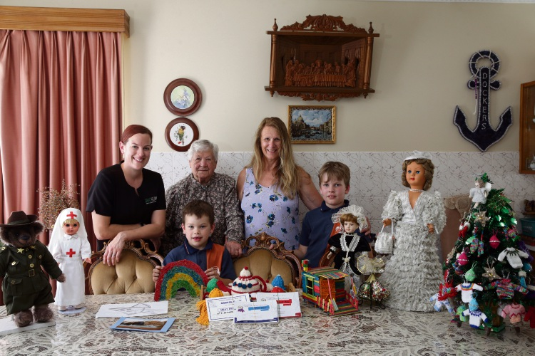 Elena De Piazzi (Wanneroo) with her daughter Gloria Hardman (Wanneroo) , granddaughter Alana Birchall (Pearsall) and her great grandsons Ace (5) and Jett (9) Birchall (Pearsall). Picture: Martin Kennealey d488694