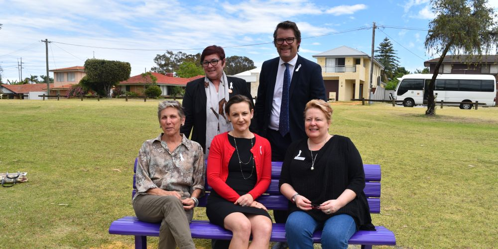 FRONT: Women's Council for Domestic and Family Services policy officer Kedy Kristal, Morley MLA Amber-Jade Sanderson, Orana House general manager Mel Rowe. BACK: Maylands MLA Lisa Baker and Bayswater Mayor Dan Bull. Picture: Kristie Lim