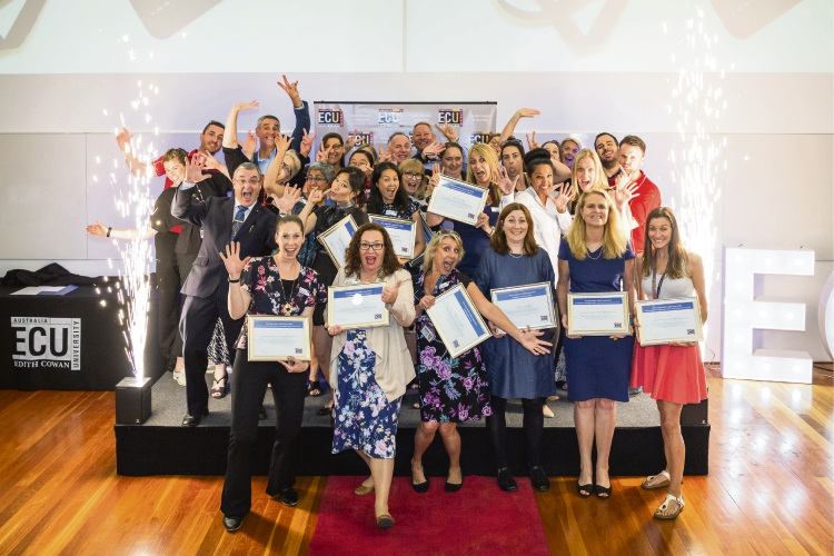 Winners of the ECU Vice-Chancellor's staff excellence awards.