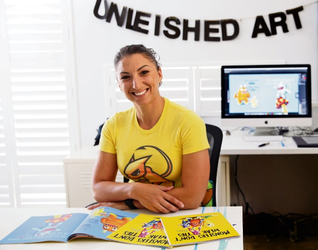 Iluka artist and author Aleisha Zappia. Picture: Martin Kennealey.