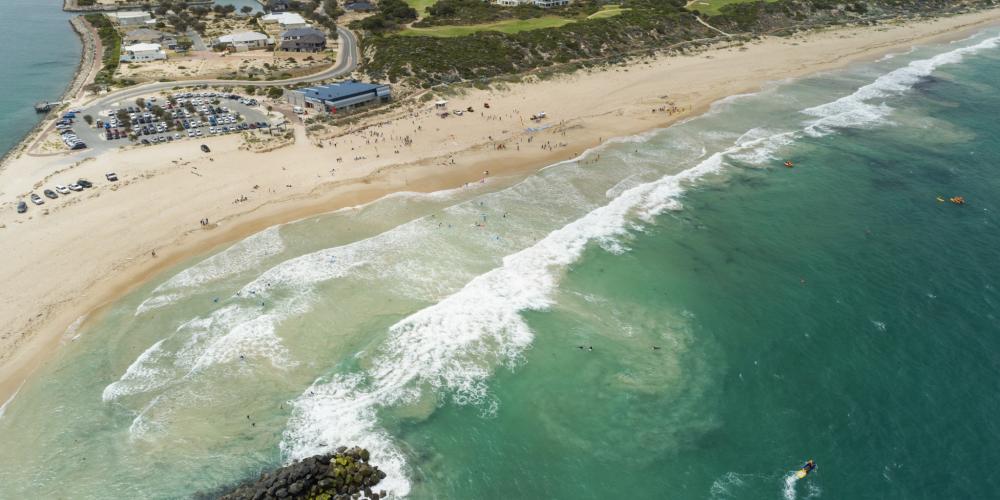 Port Bouvard Surf Life Saving Club's first drone patrol a success
