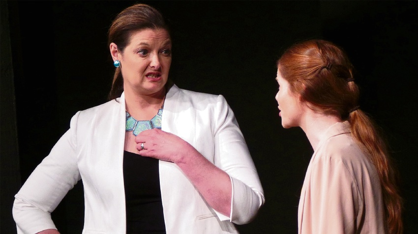 Mandurah resident Natalie Burbage (left) with Madelaine Jones in Wonderful World.