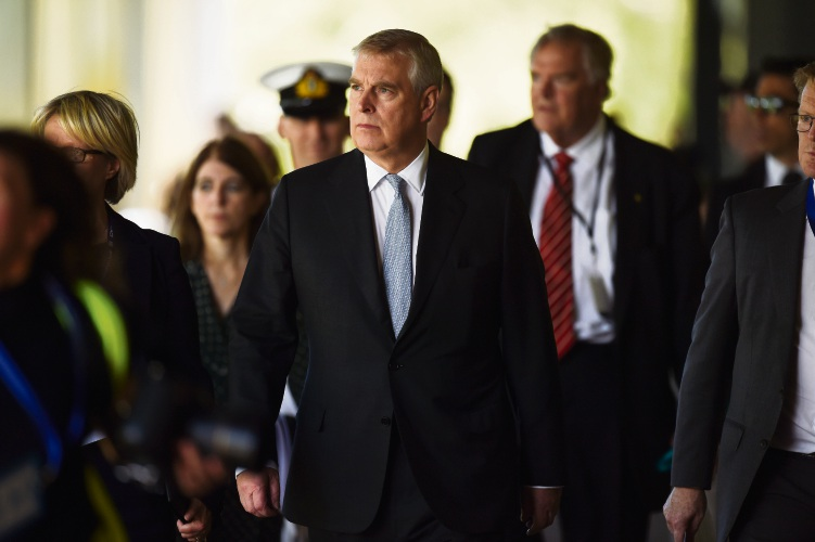 The Duke of York touring Murdoch University. Picture: Jon Hewson