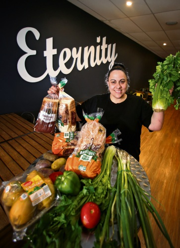 Valeria Mazza of Westminster (Community Coordinator, Eternity Church Mirrabooka). People who have struggles and/or are homeless often visit the church for its support services, including their food service, Community Eats, hampers and to use the shower van. Picture: David Baylis