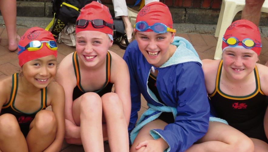 Swimmers from 13 primary schools competed at Wesley College