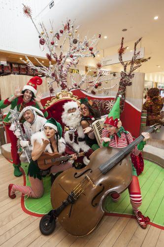 Santa arrival parade dazzles Clarkson shoppers
