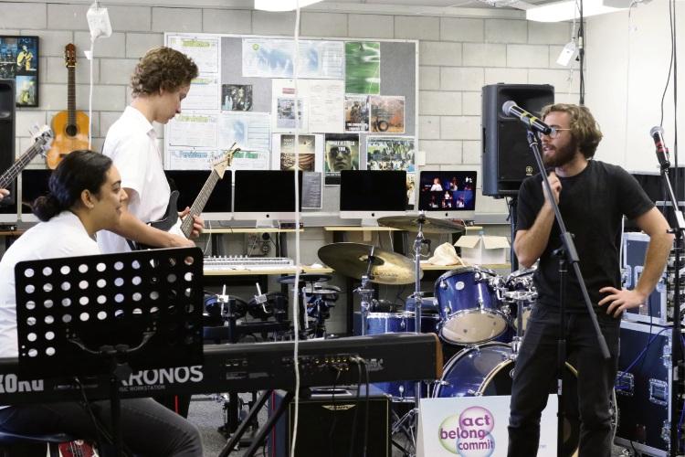 Lakeland SHS students enjoyed a workshop from Fremantle band Cosy.