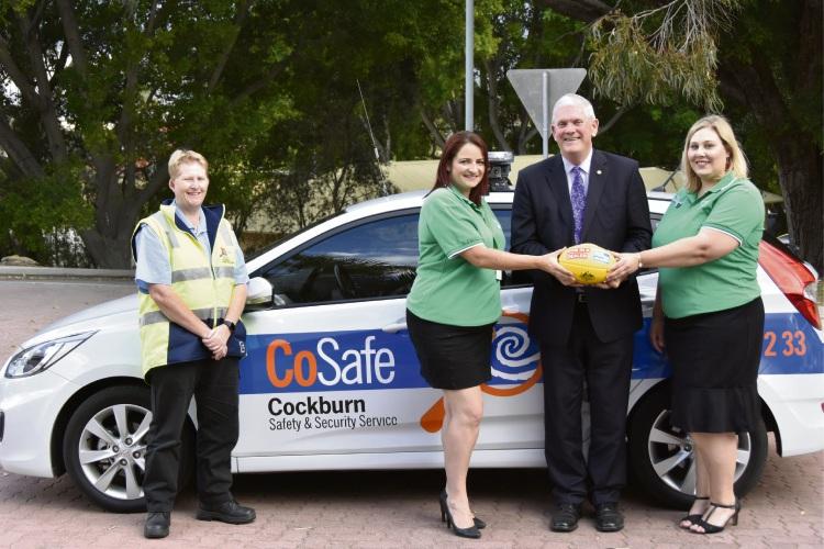 CoSafe safety officer Tracy Dunn, Cockburn councillor Chontelle Sands, mayor Logan Howlett and councillor Lara Kirkwood.