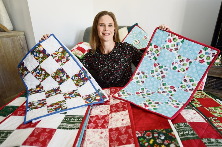 Premature babies get quilts for Christmas with Tiny Sparks charity