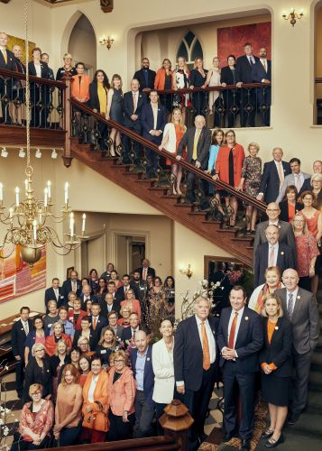 Government and community leaders wore orange to launch the 16 Days in WA to Stop Violence Against Women campaign. Picture: Greg Lewis