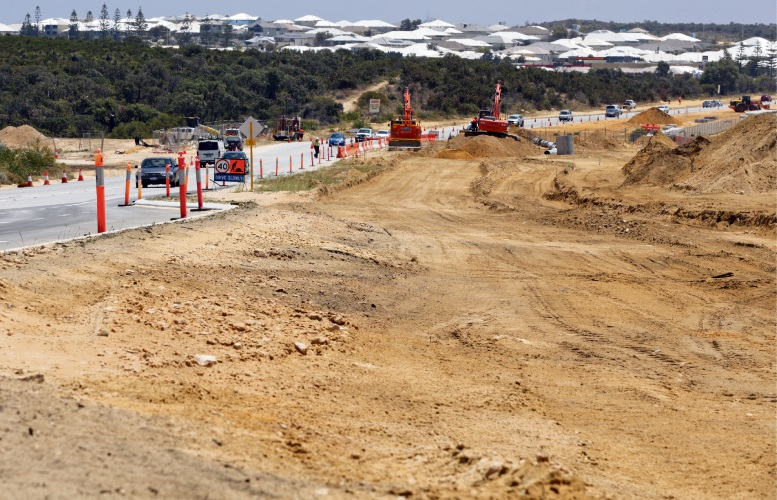 The first stage of widening Marmion Avenue started in September and is expected to finish in March.