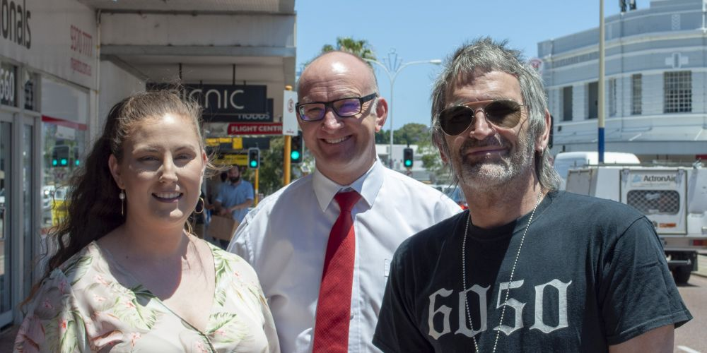 Witchery Mt Lawley manager Stacey Markwick, Simon Millman MLA, Elroy owner Nick Sheppard. Picture: Supplied.