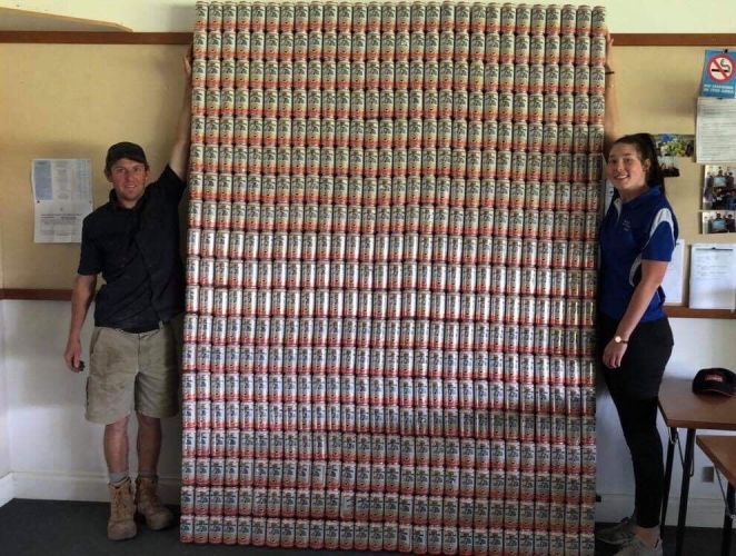 This wall of empty Emu Export cans could be yours