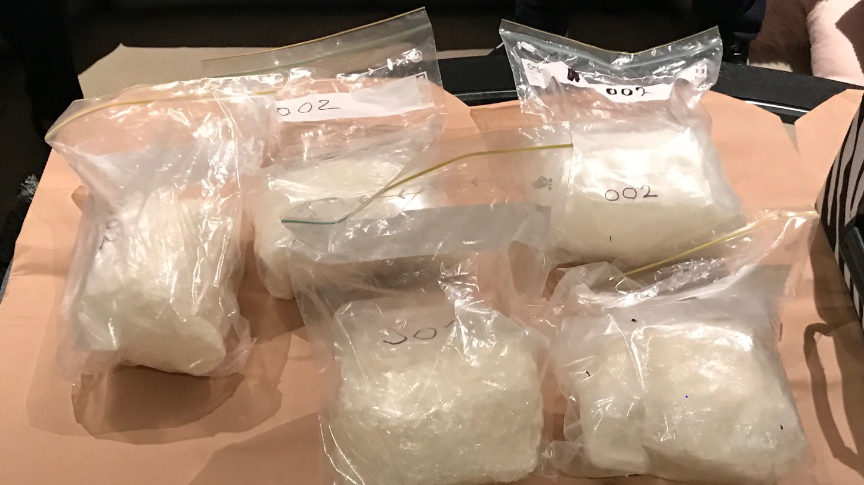 Some of the drugs seized by the National Anti-Gangs Squad.