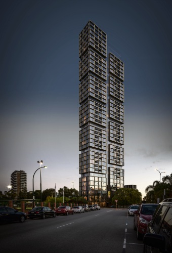 An artist's impression of the proposed 44-storey building.
