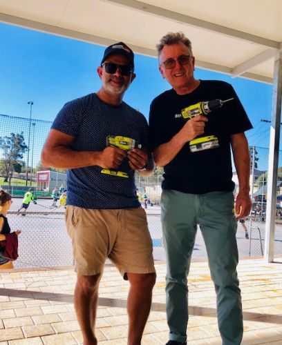 Bayswater Bowling and Recreation Club president Mark Cameron and chair Baysie Rollers David Lee.