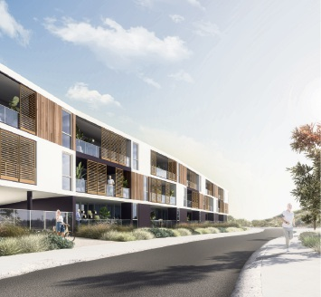 An artist's impression of the proposed Odyssey Residences at Beaumaris Beach.