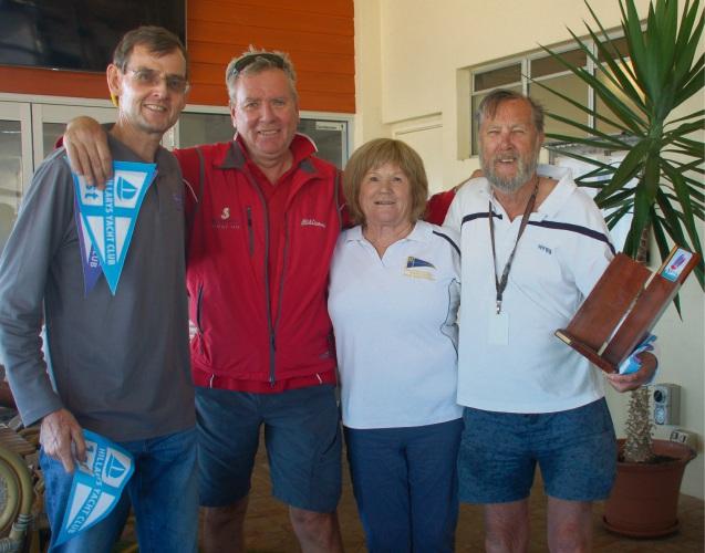 Emille Janssen, Neil Harrison and Ian Walker with Sandy Grant following presentations.