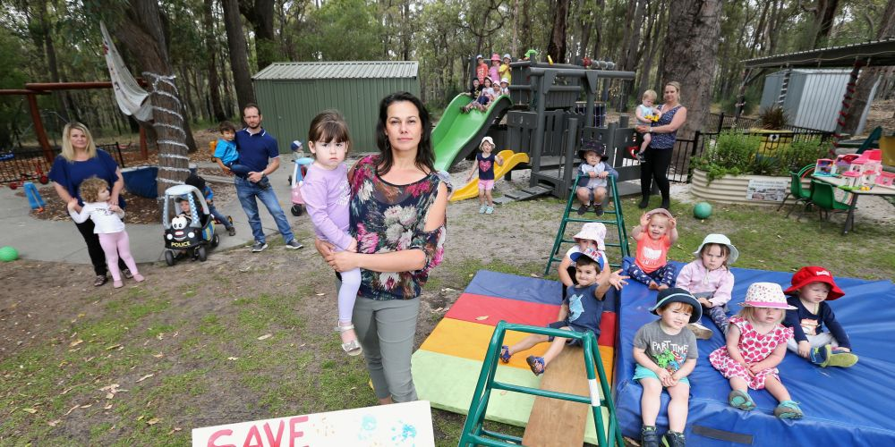 Parents are protesting the closure of the Little Possums child care centre in Mundaring.