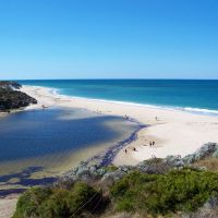 The mouth of the Moore River in Guilderton. Photo: GuildertonWA.com.au