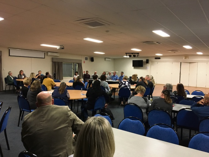 About 40 people attended the Quinns Rocks crime forum.