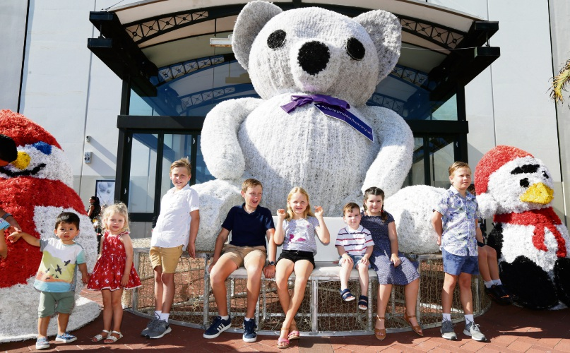 The giant teddy at Karrinyup. Photo: Martin Kennealey