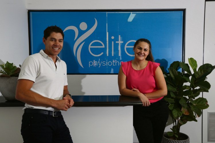 Michael Swan (owner and physiotherapist) and Bronte Gorfin (physiotherapist). Picture: Andrew Ritchie www.communitypix.com.au   d488829a