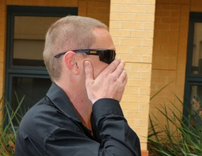 Luke Kevin Dempster entering Joondalup Magistrates Court this morning. Picture: Anton La Macchia