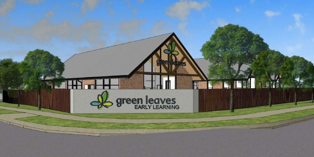 An artist's impression of the Green Leaves Early Learning Centre proposed in Wanneroo.