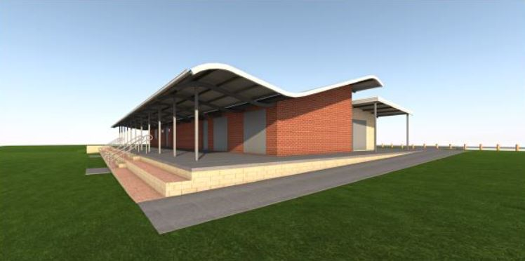 An artist's impression of the change rooms at Belhaven Park in Quinns Rocks.