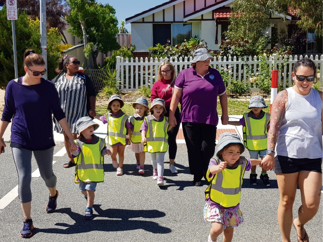 Goodstart Early Learning in Tapping took children on an excursion to their future primary schools.